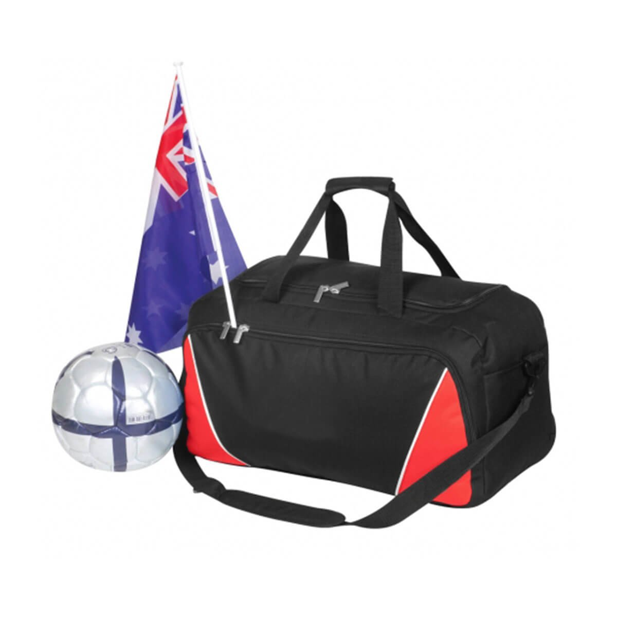 Sports Bag-Black / White / Red
