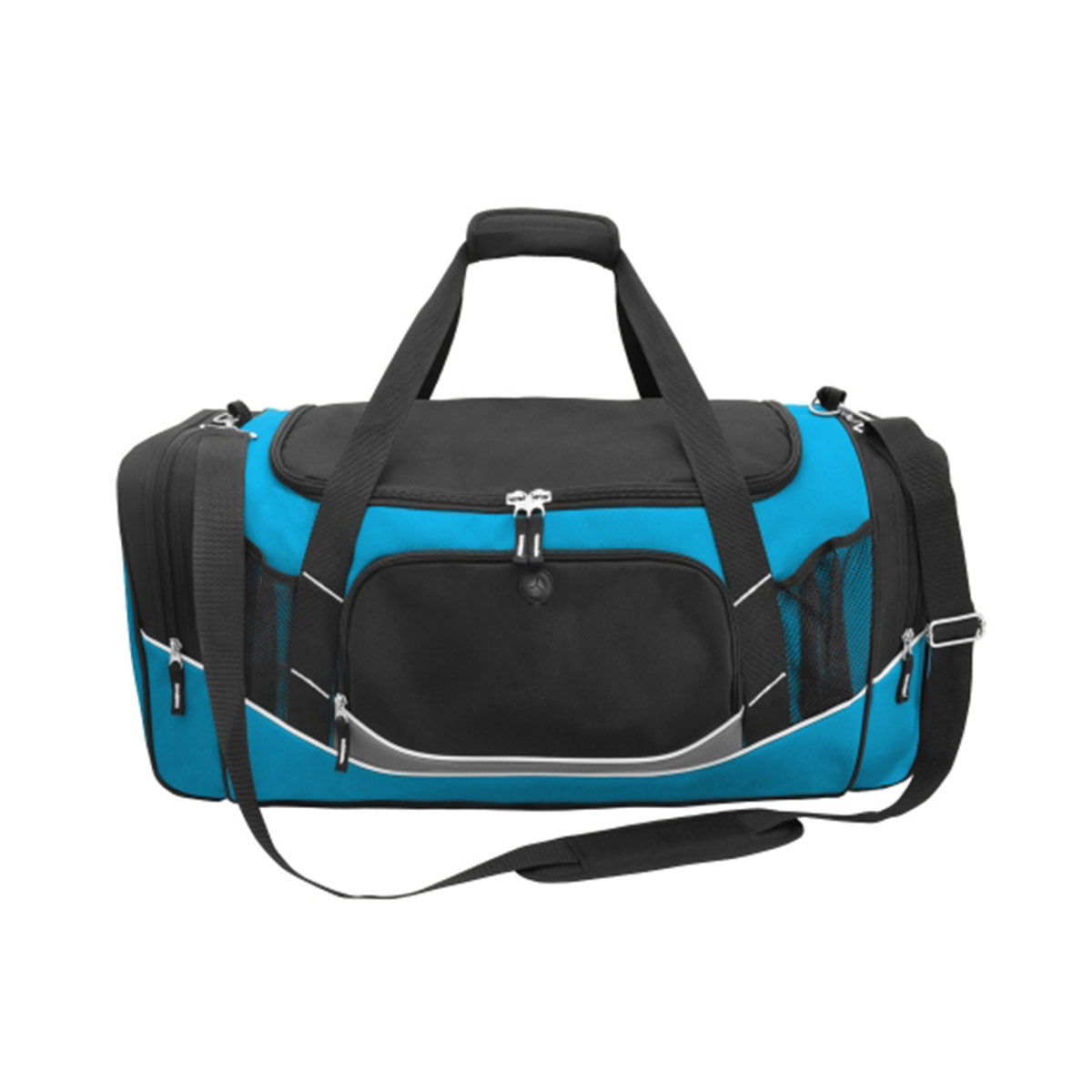 Atlantis Sports Bag-Black / Aqua / White / Charcoal