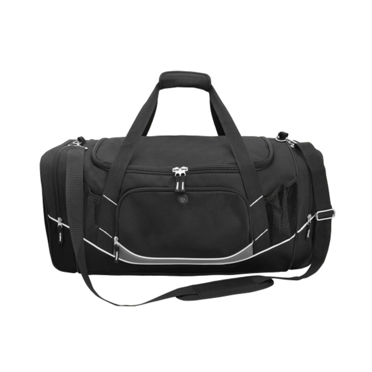 Atlantis Sports Bag-Black / Black / White / Charcoal