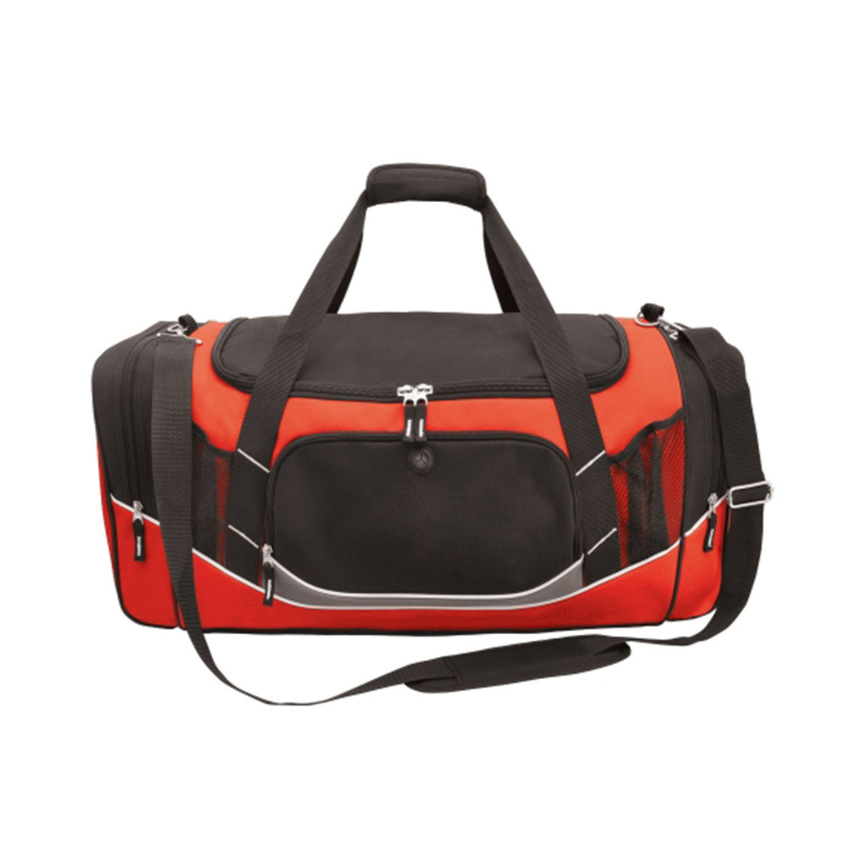 Atlantis Sports Bag-Black / Red / White / Charcoal