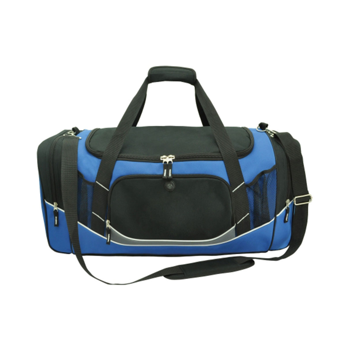 Atlantis Sports Bag-Black / Royal / White / Charcoal