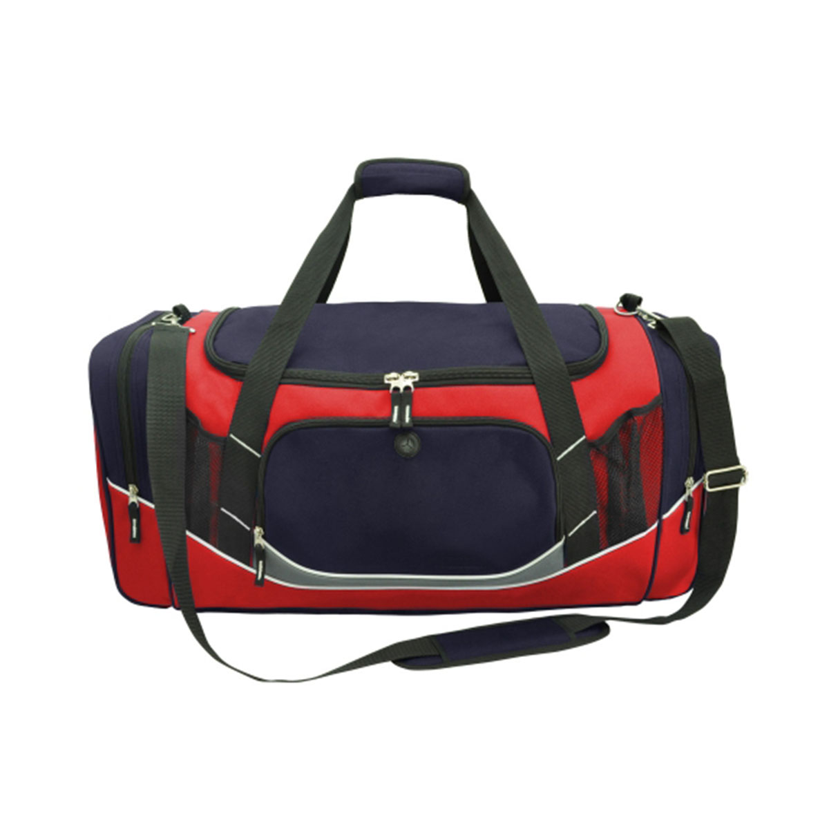 Atlantis Sports Bag-Navy / Red / White / Charcoal