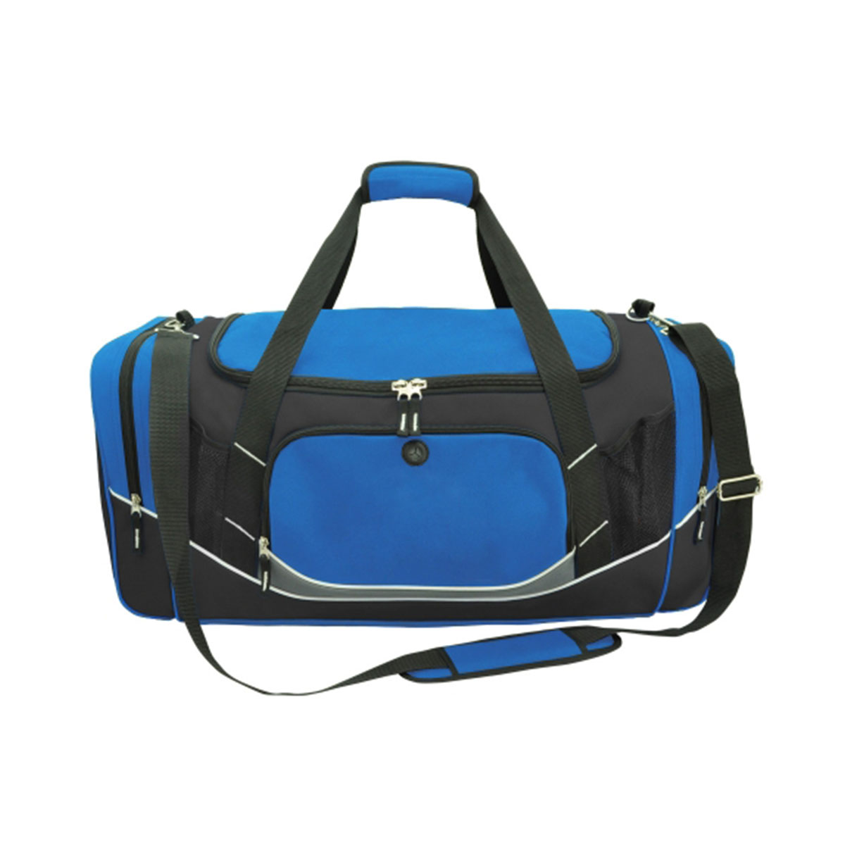 Atlantis Sports Bag-Royal / Black / White / Charcoal
