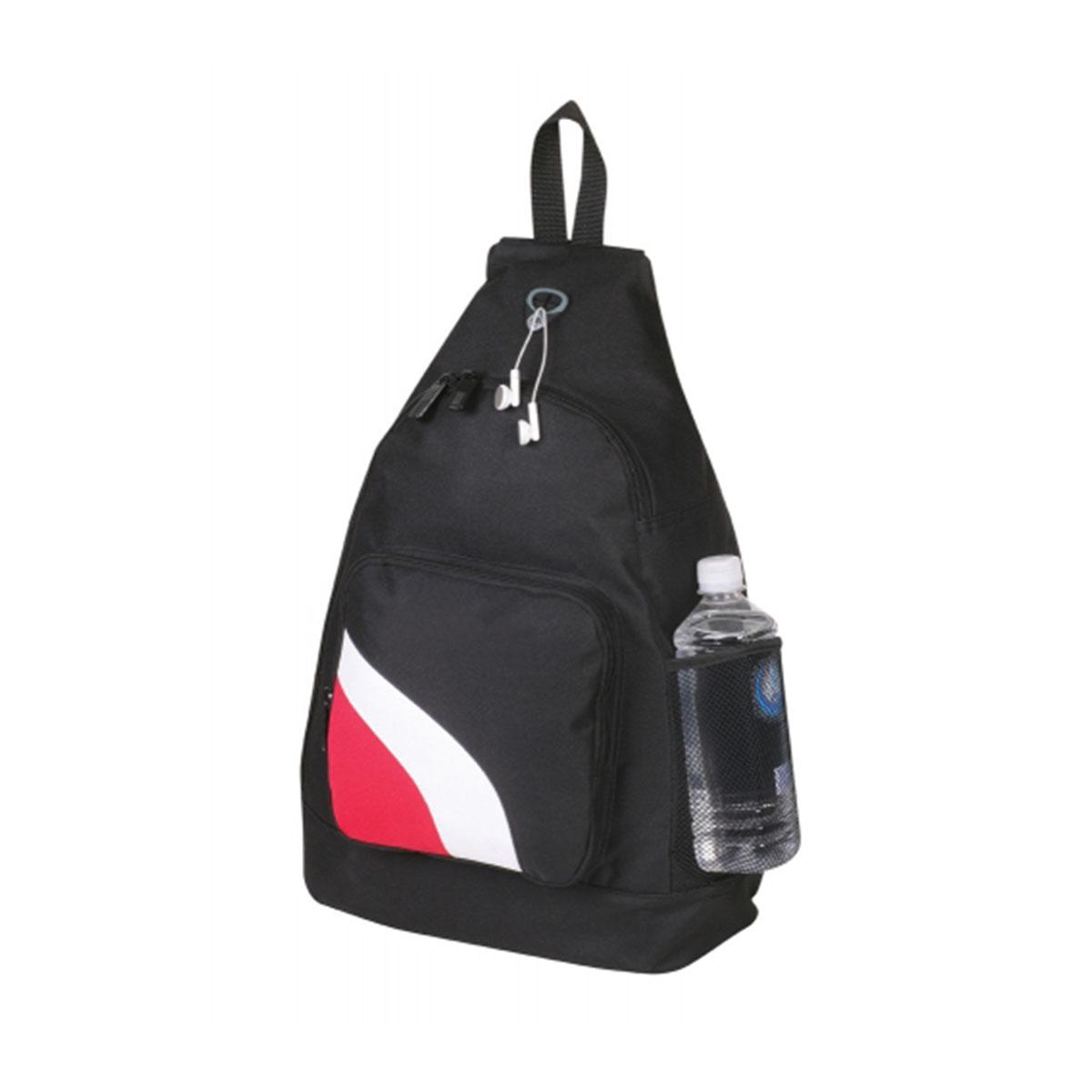 Slingpack-Black / White / Red