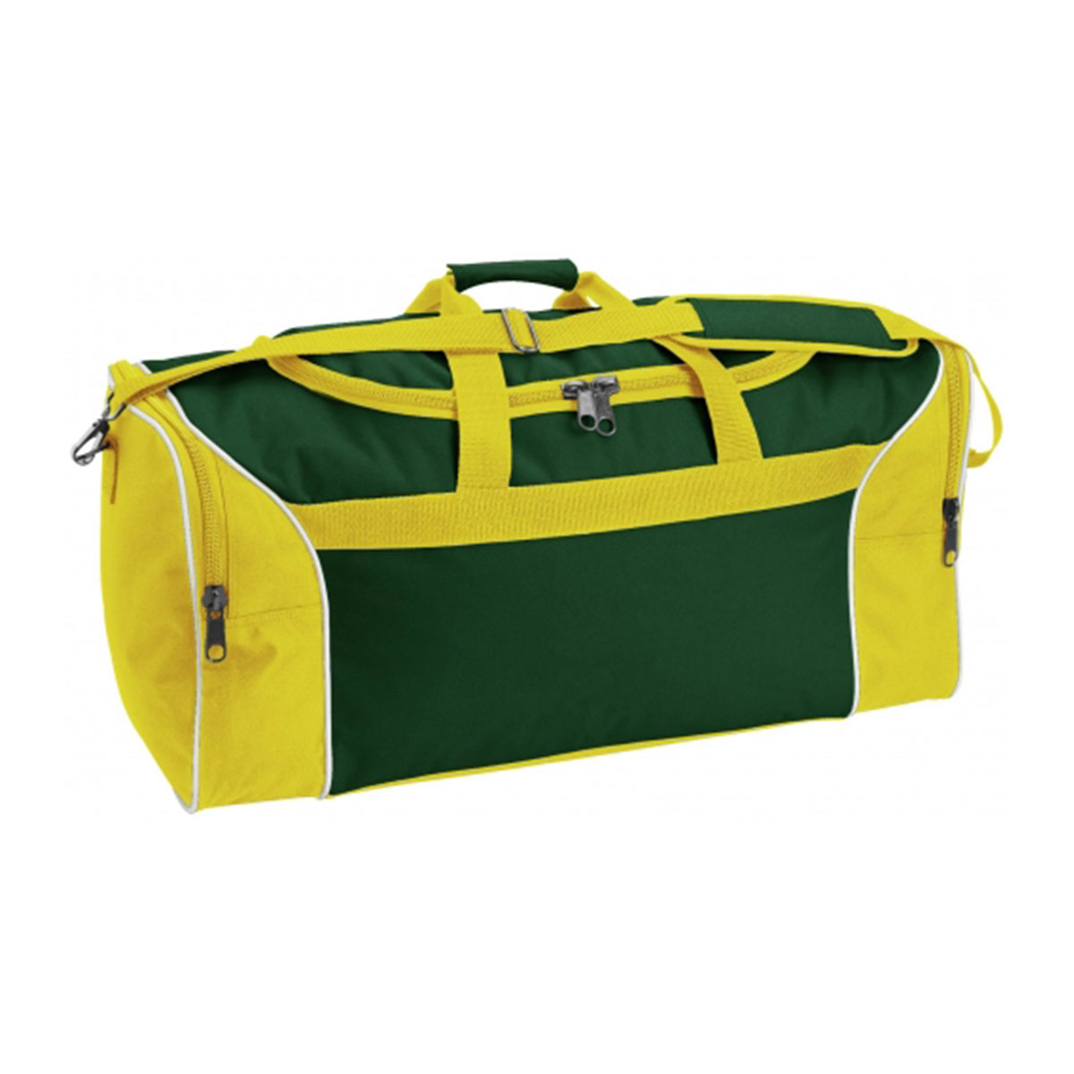 Tri-Colour Sports Bag-Bottle / White / Yellow