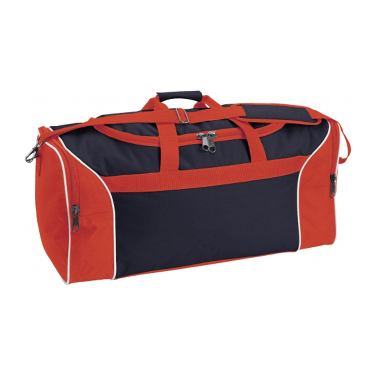 Tri-Colour Sports Bag-Navy / White / Red