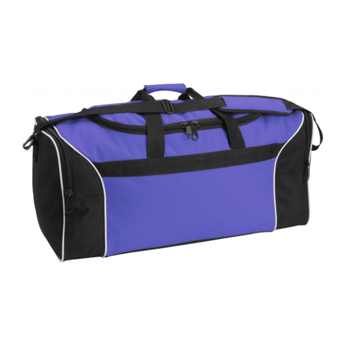 Tri-Colour Sports Bag-Royal / White / Black