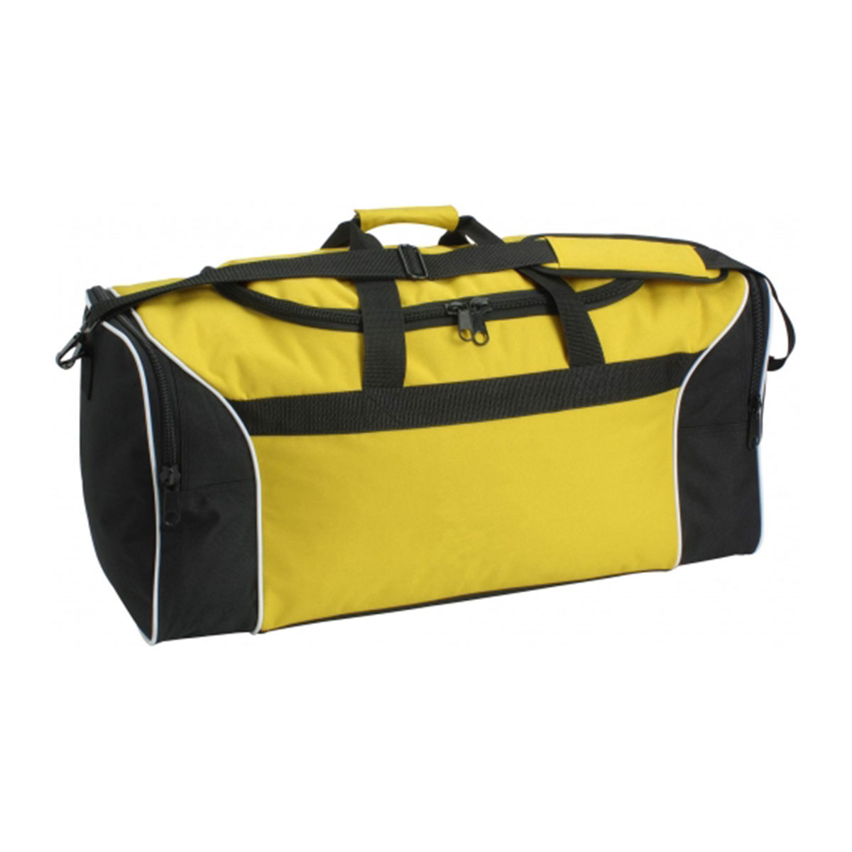 Tri-Colour Sports Bag-Yellow / White / Black