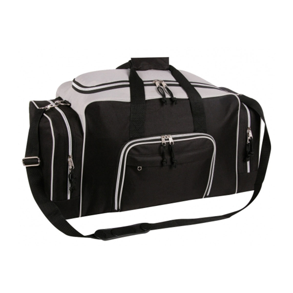 Deluxe Sports Bag-Black / Grey