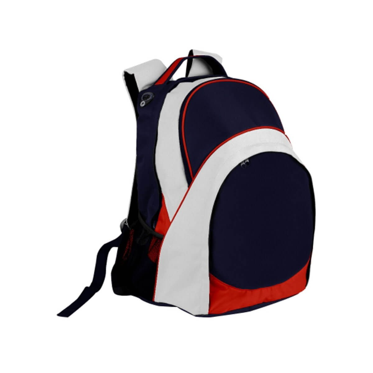 Harvey Backpack-Navy / Red / White