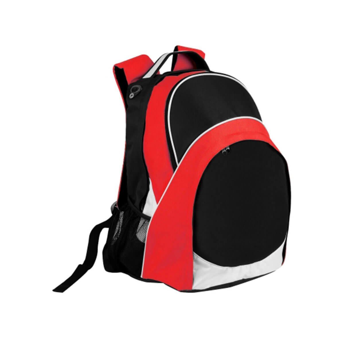 Harvey Backpack-Black / White / Red