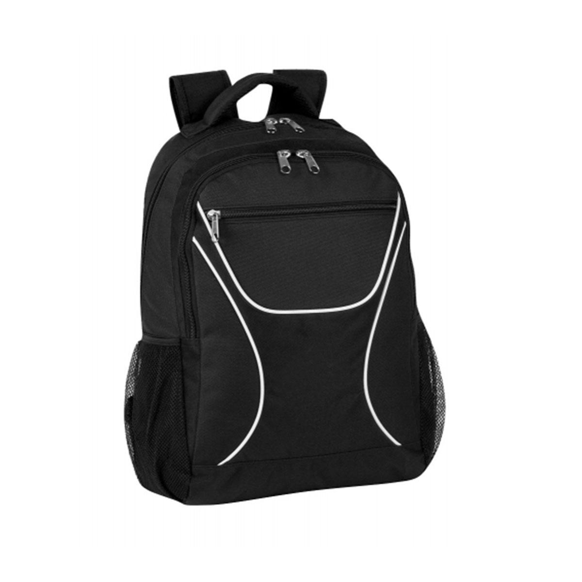 Backpack-Black / White / Black