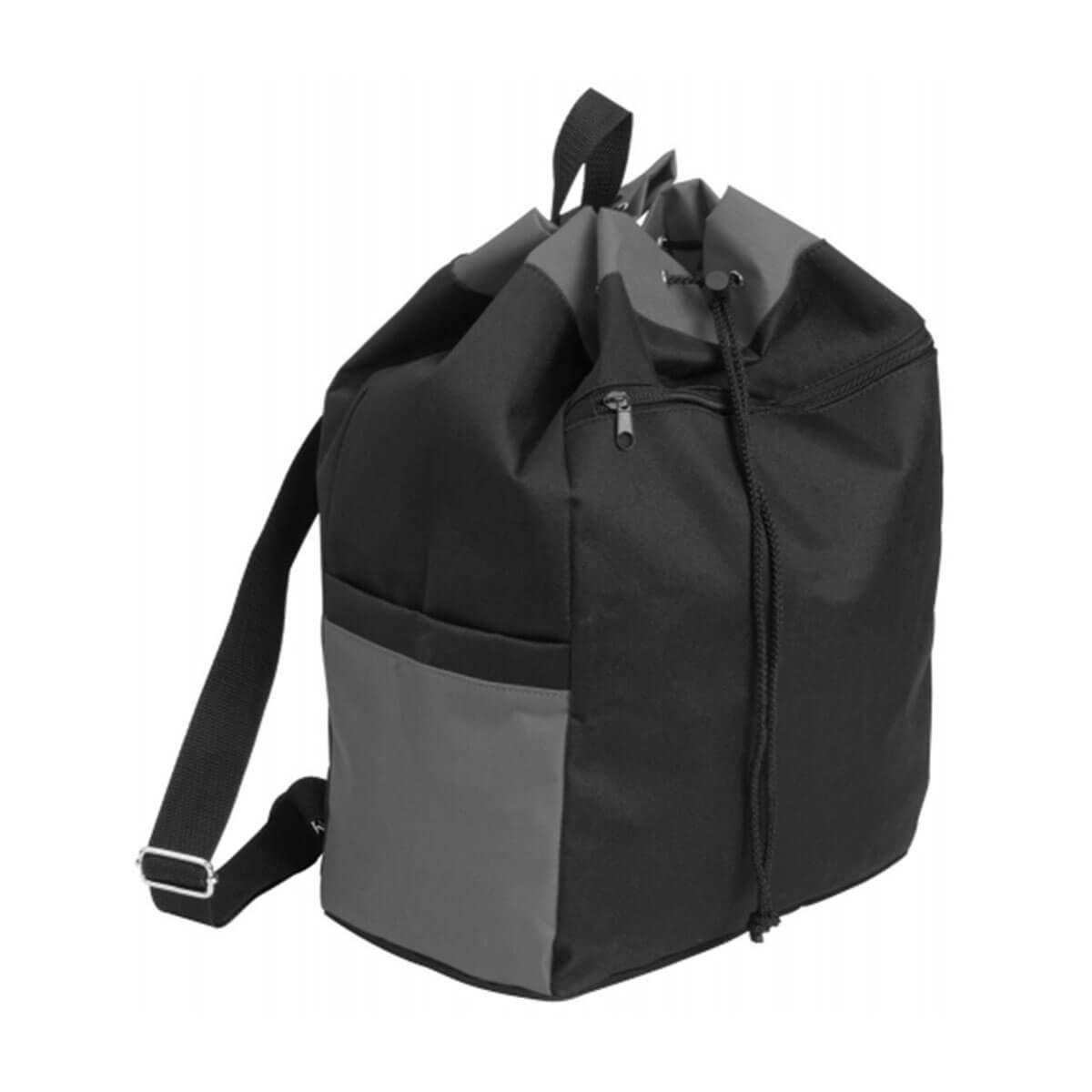 Drawstring Kitbag-Black / Deep Grey