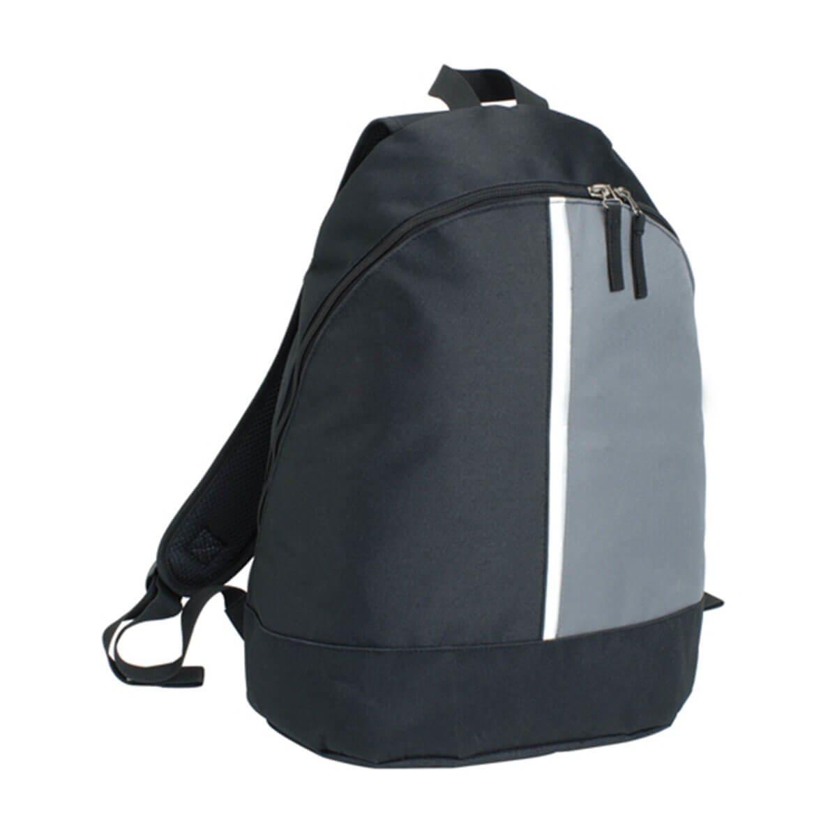 2-Panel Backpack-Black / Grey