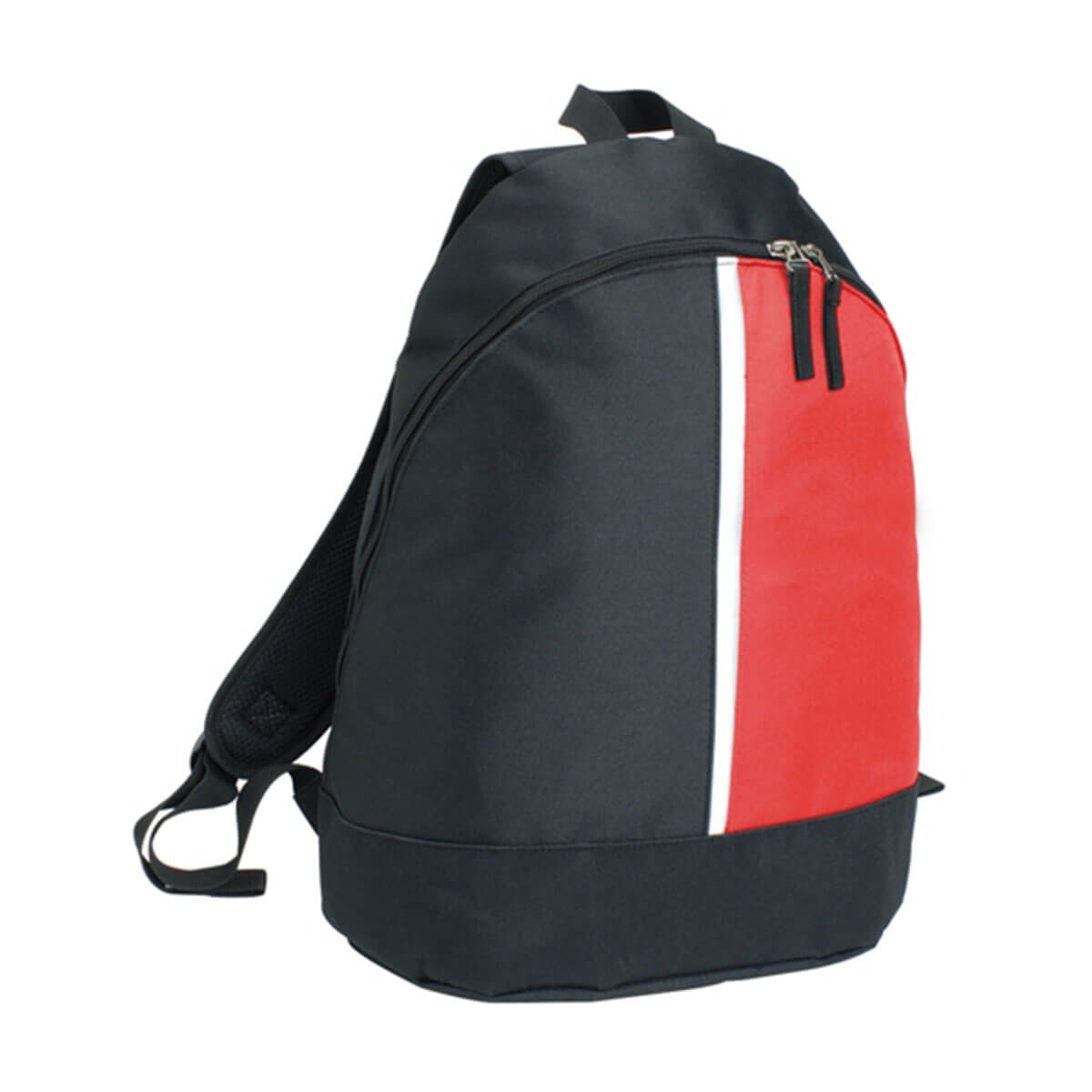 2-Panel Backpack-Black / Red