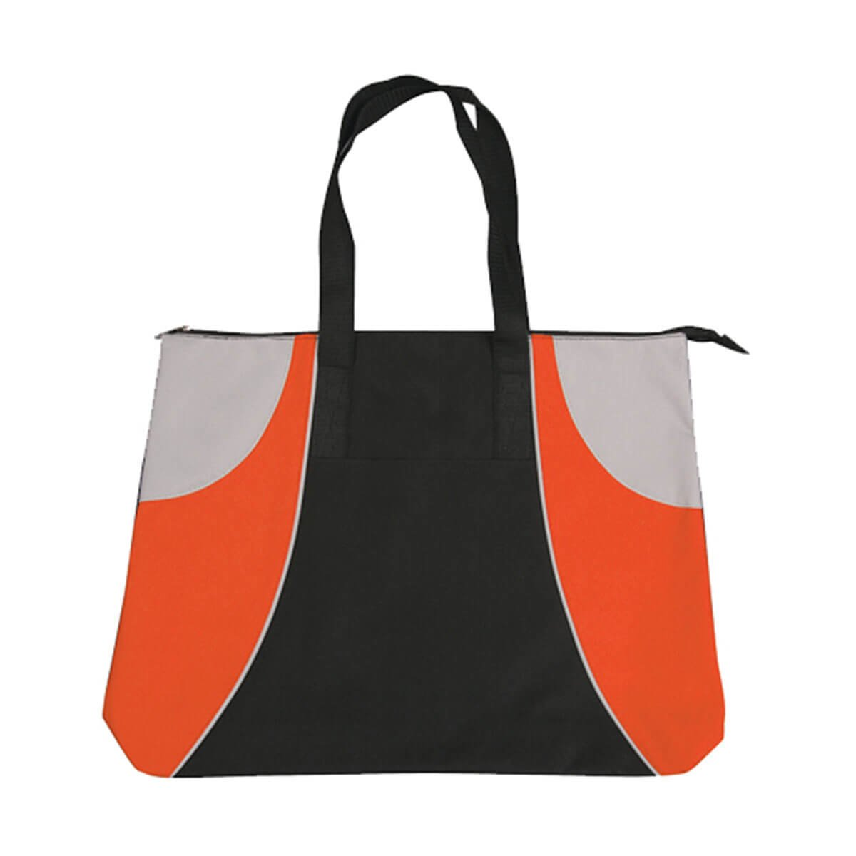 Alpine Tote Bag-Black / Orange / Silver