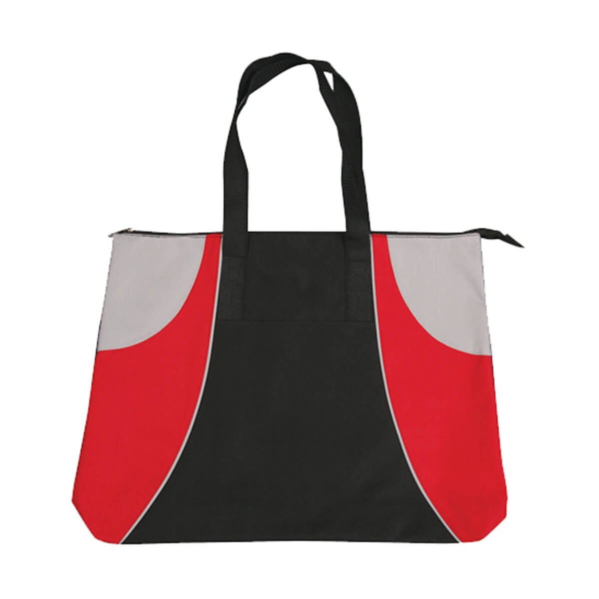 Alpine Tote Bag-Black / Red / Silver