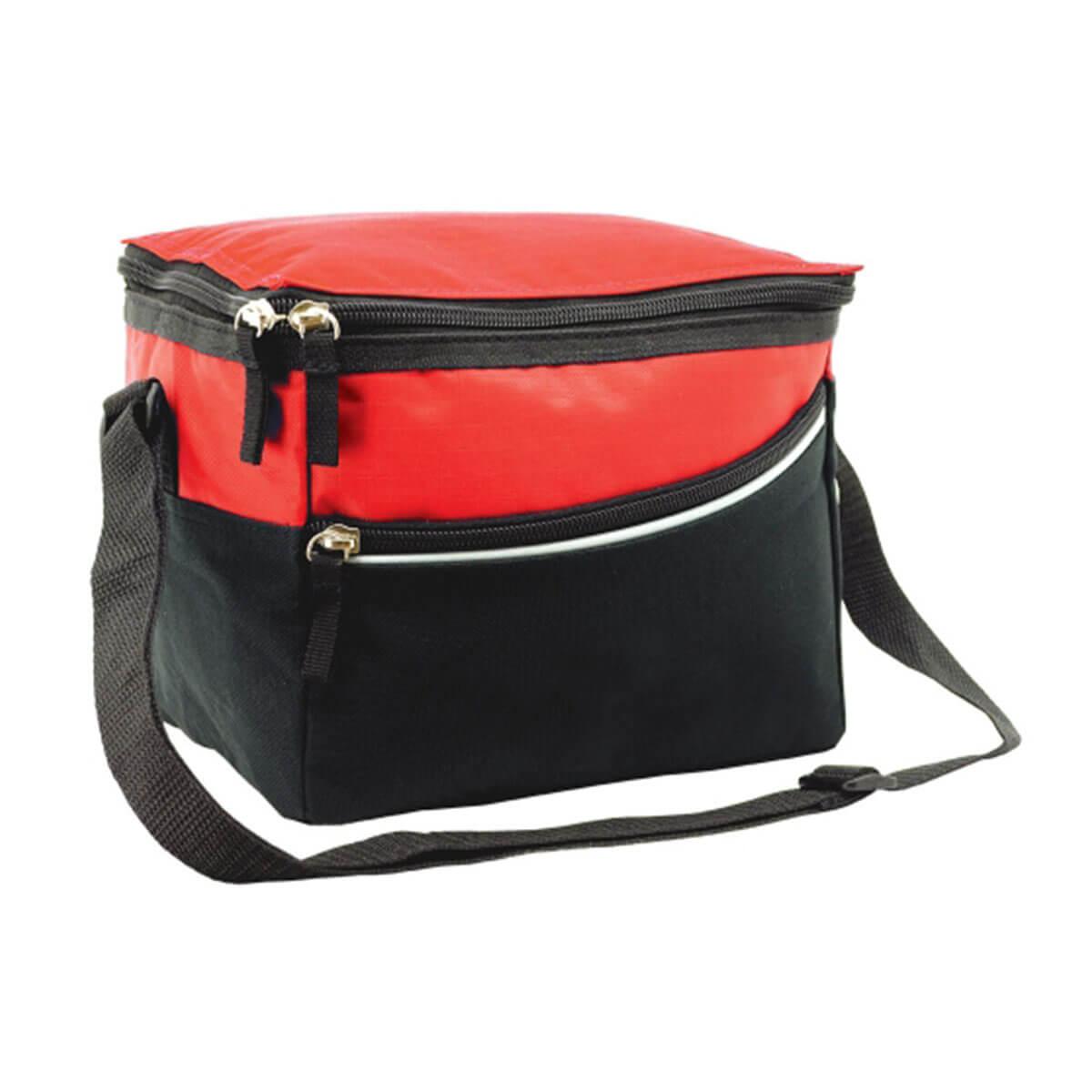 Amigo cooler bag-Red / Grey / Black
