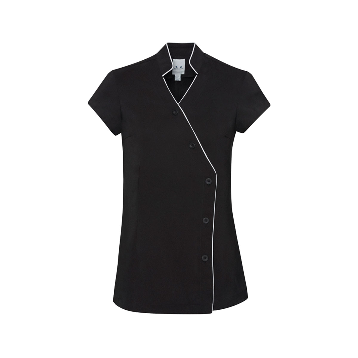 Ladies Zen Crossover Tunic-Black / White