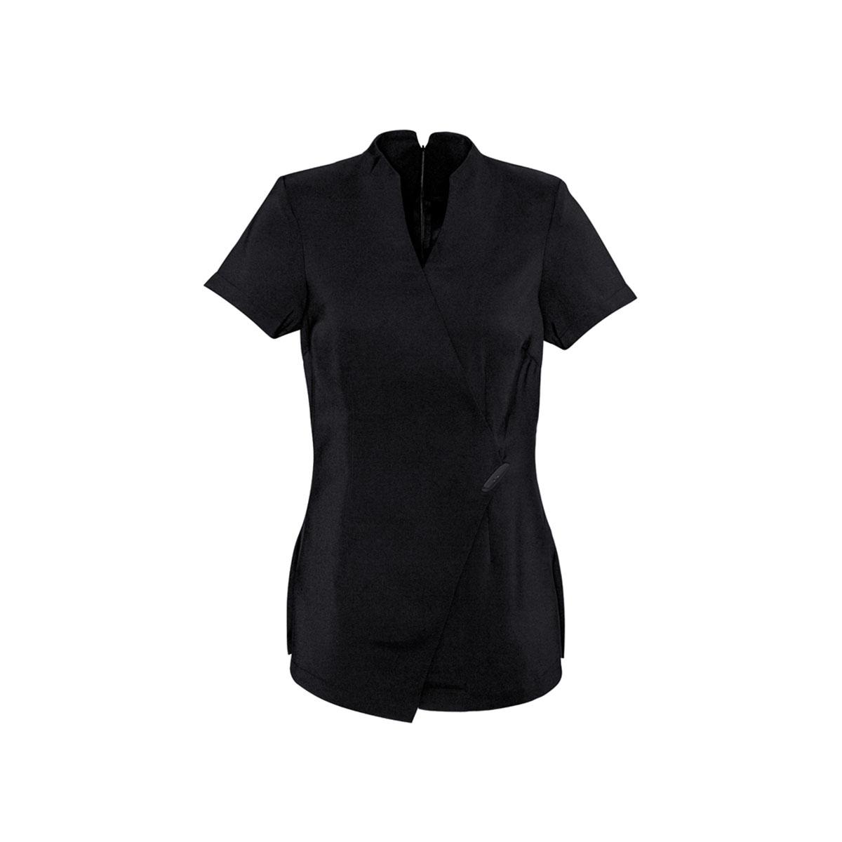 Ladies Spa Tunic-Black / Black