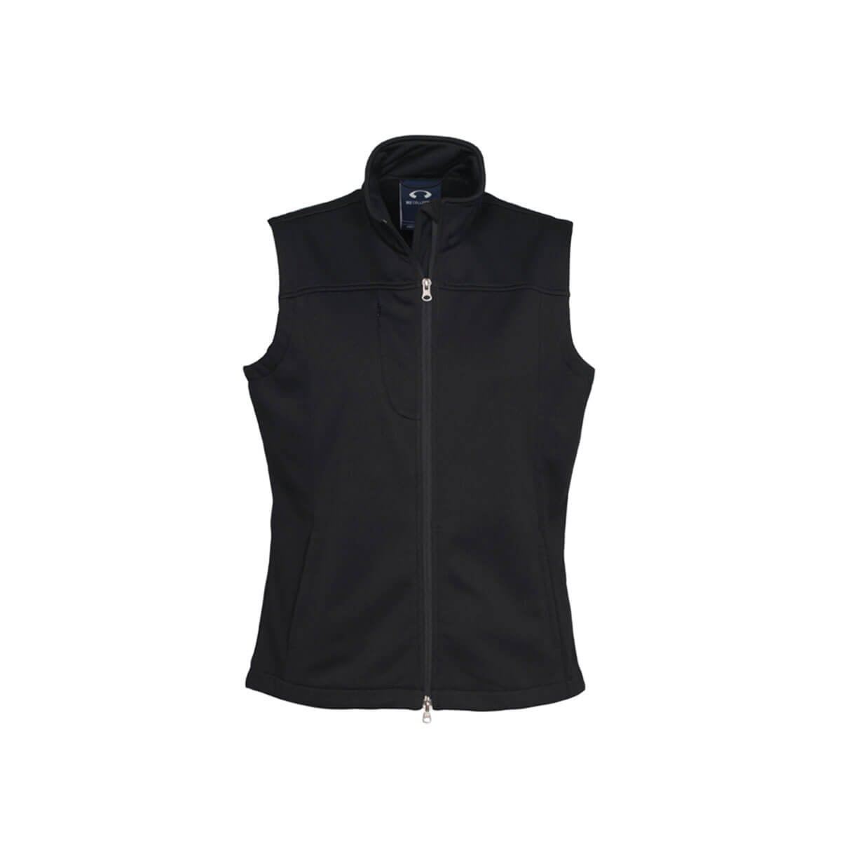 Ladies Soft Shell Vest-Black