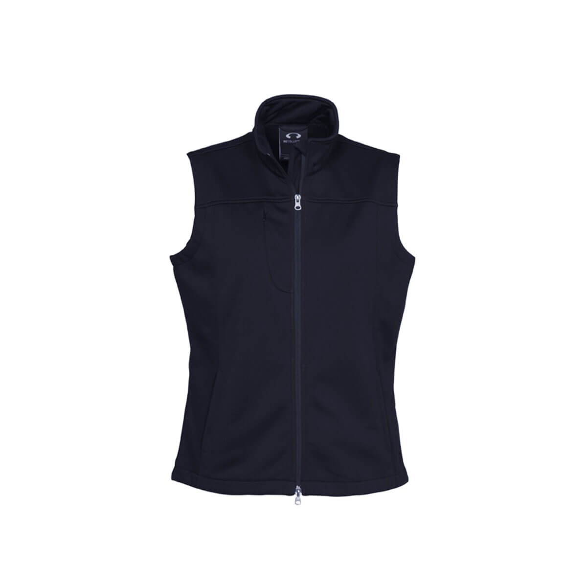 Ladies Soft Shell Vest-Navy