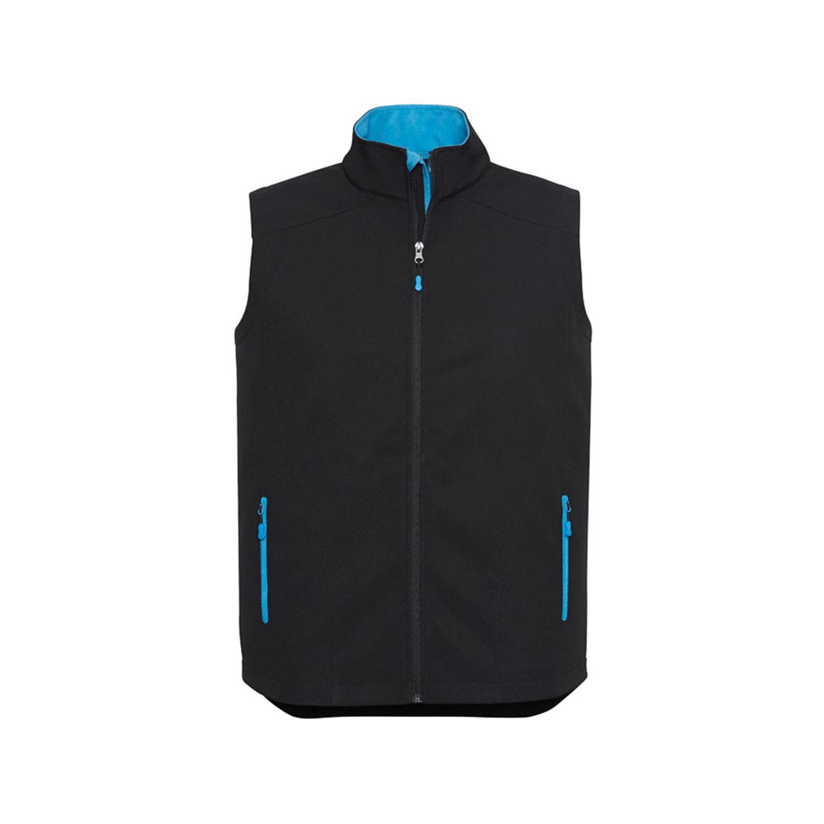 Mens Geneva Vest-Black / Cyan