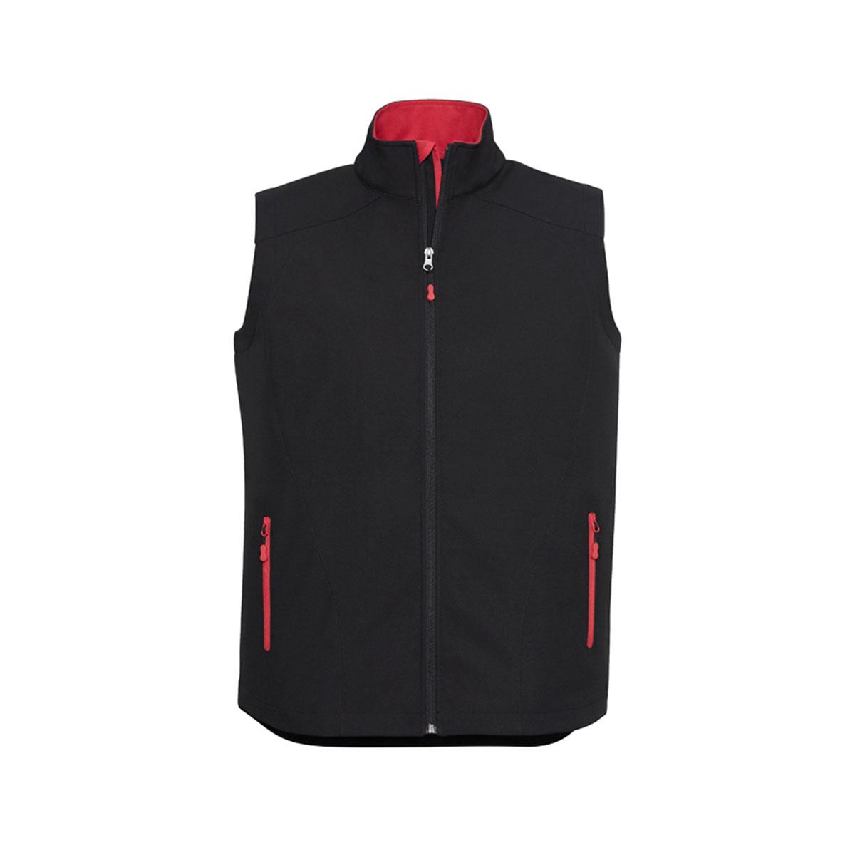Mens Geneva Vest-Black / Red