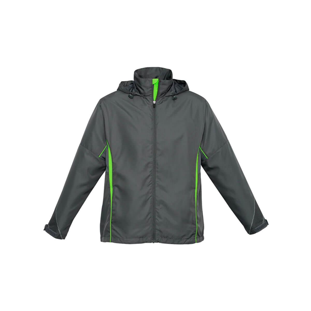 Adults Razor Team Jacket-Grey / Fluoro Lime