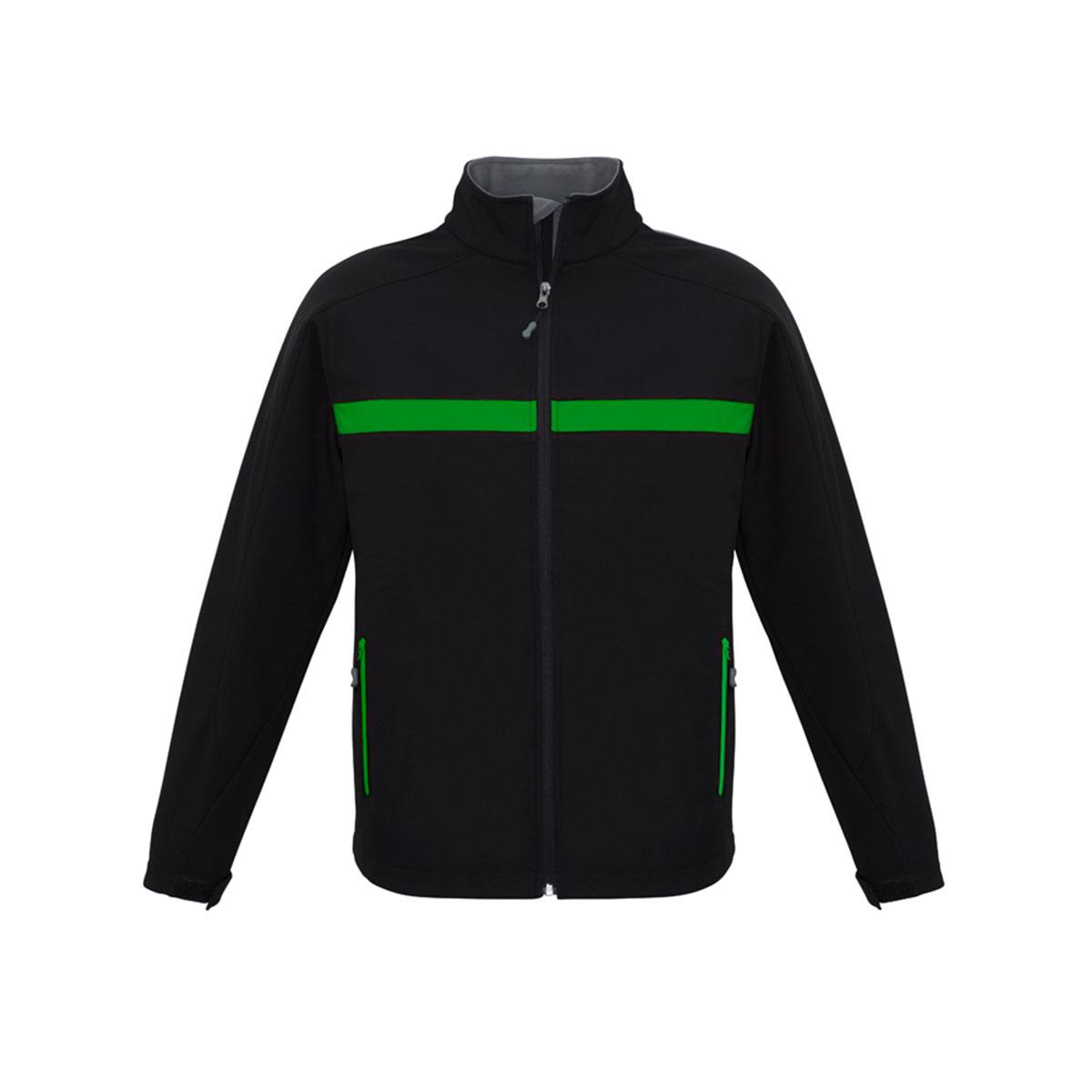 Unisex Charger Jacket-Black / Green / Grey