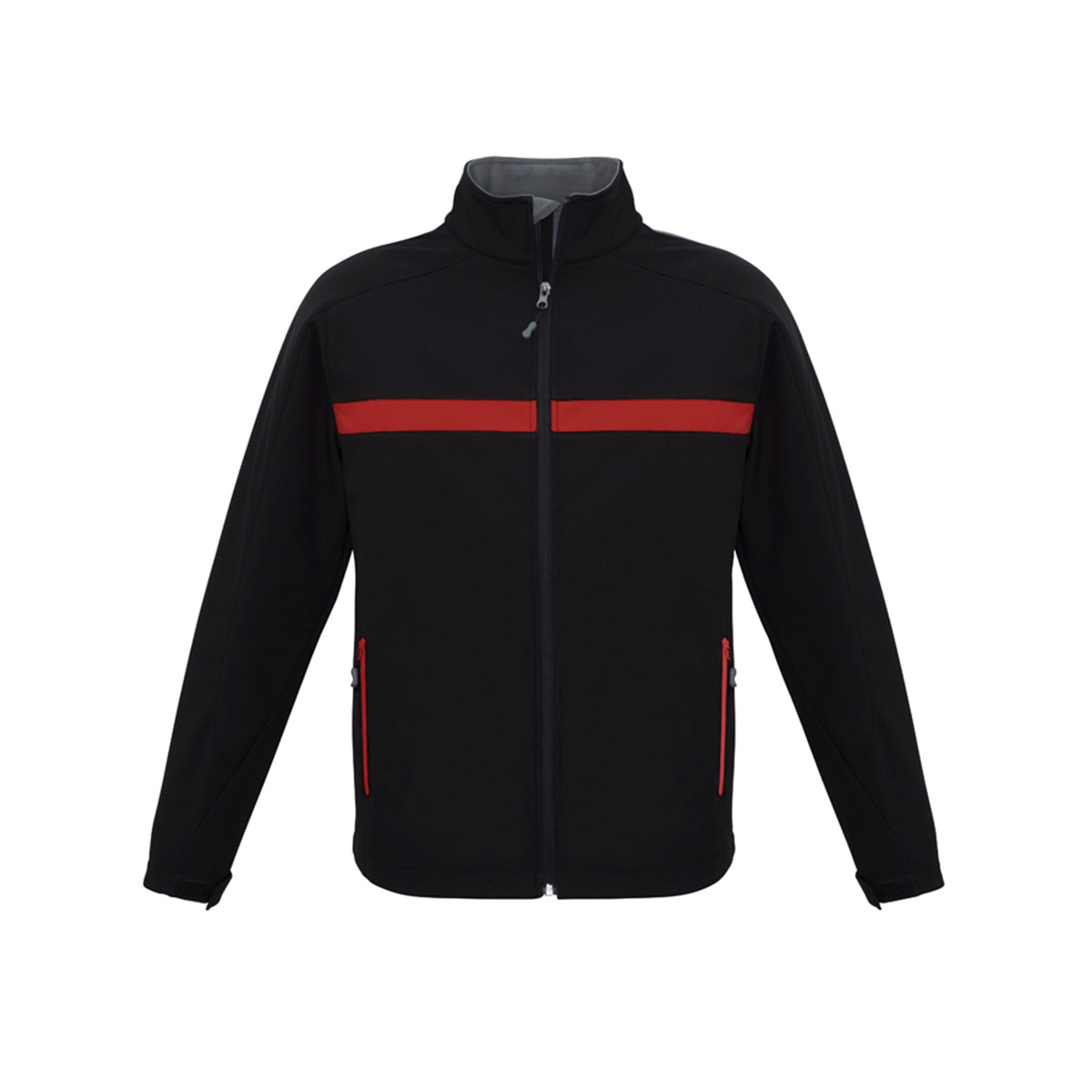Unisex Charger Jacket-Black / Red / Grey