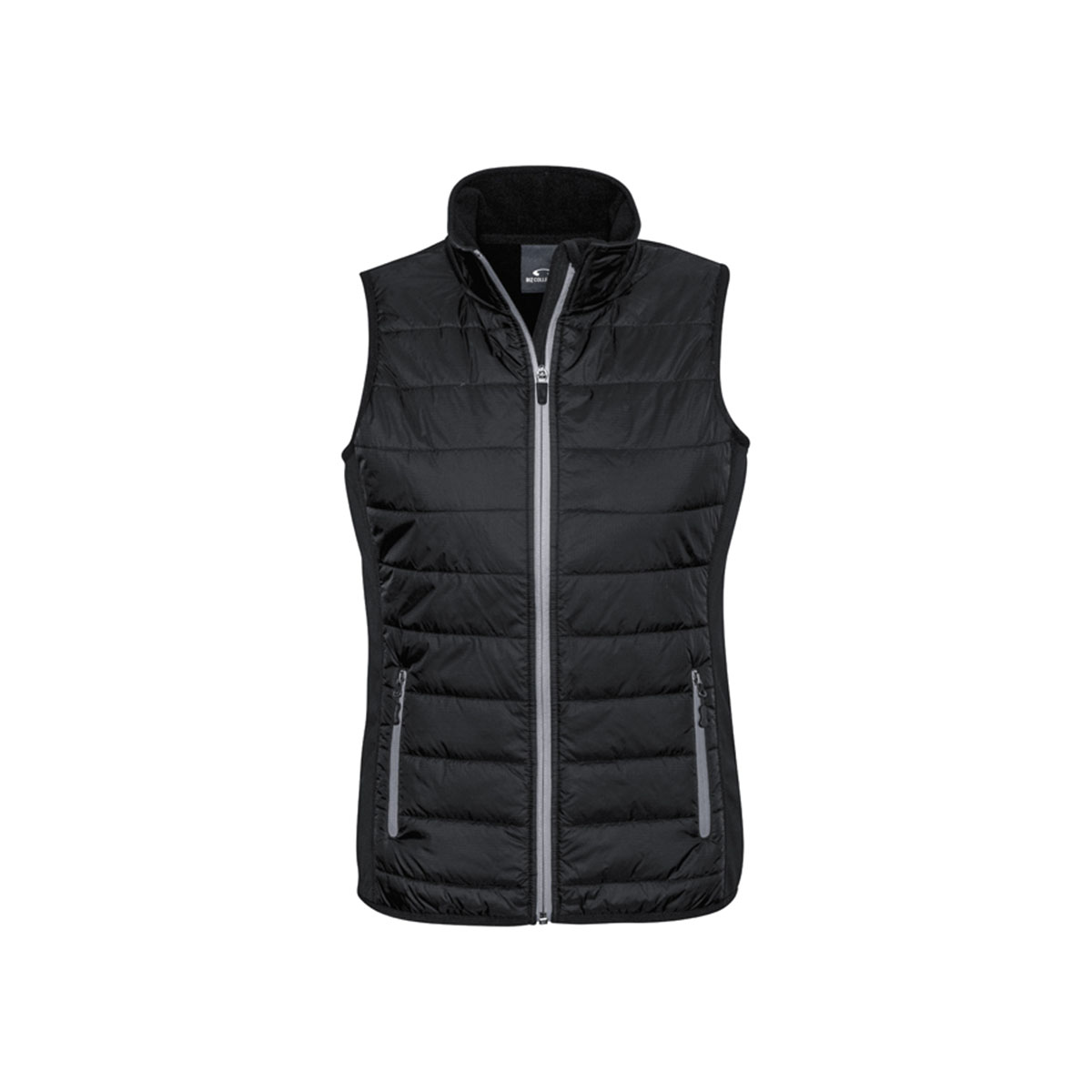 Ladies Stealth Tech Vest-Black / Silver Grey