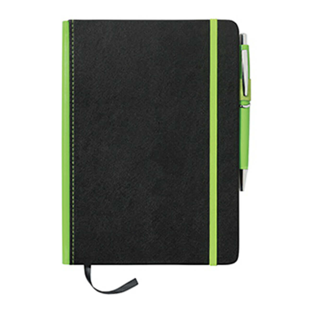 A5 Barranco JournalBook with Coloured Spine-Green