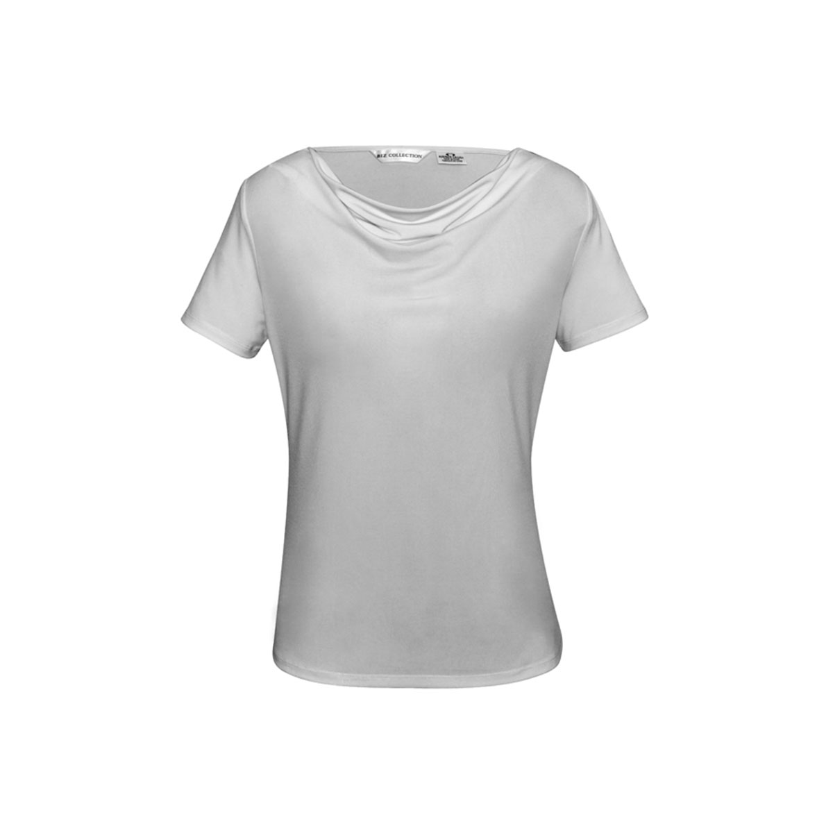 Ladies Ava Drape Knit Top-Silver Mist