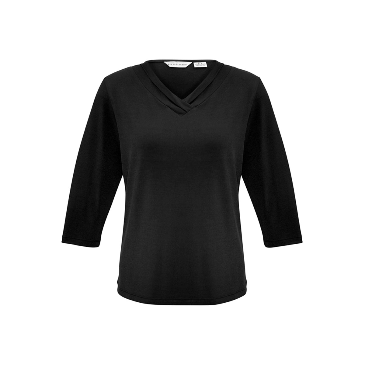 Ladies Lana 3/4 Sleeve Top-Black
