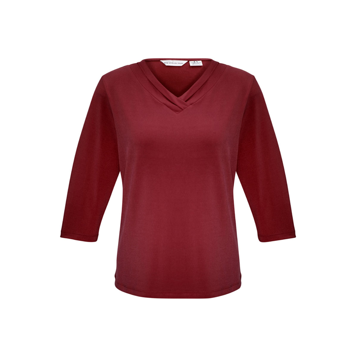 Ladies Lana 3/4 Sleeve Top-Cherry