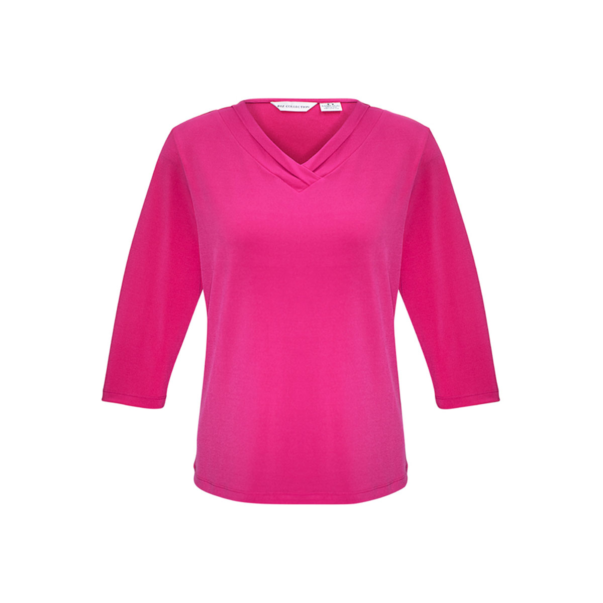 Ladies Lana 3/4 Sleeve Top-Fuchsia