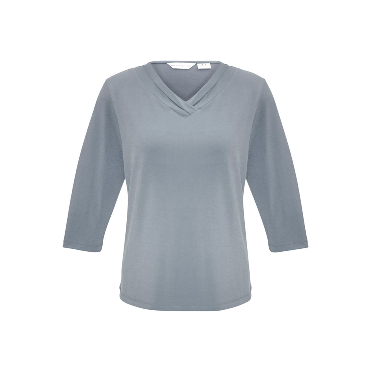 Ladies Lana 3/4 Sleeve Top-Silver