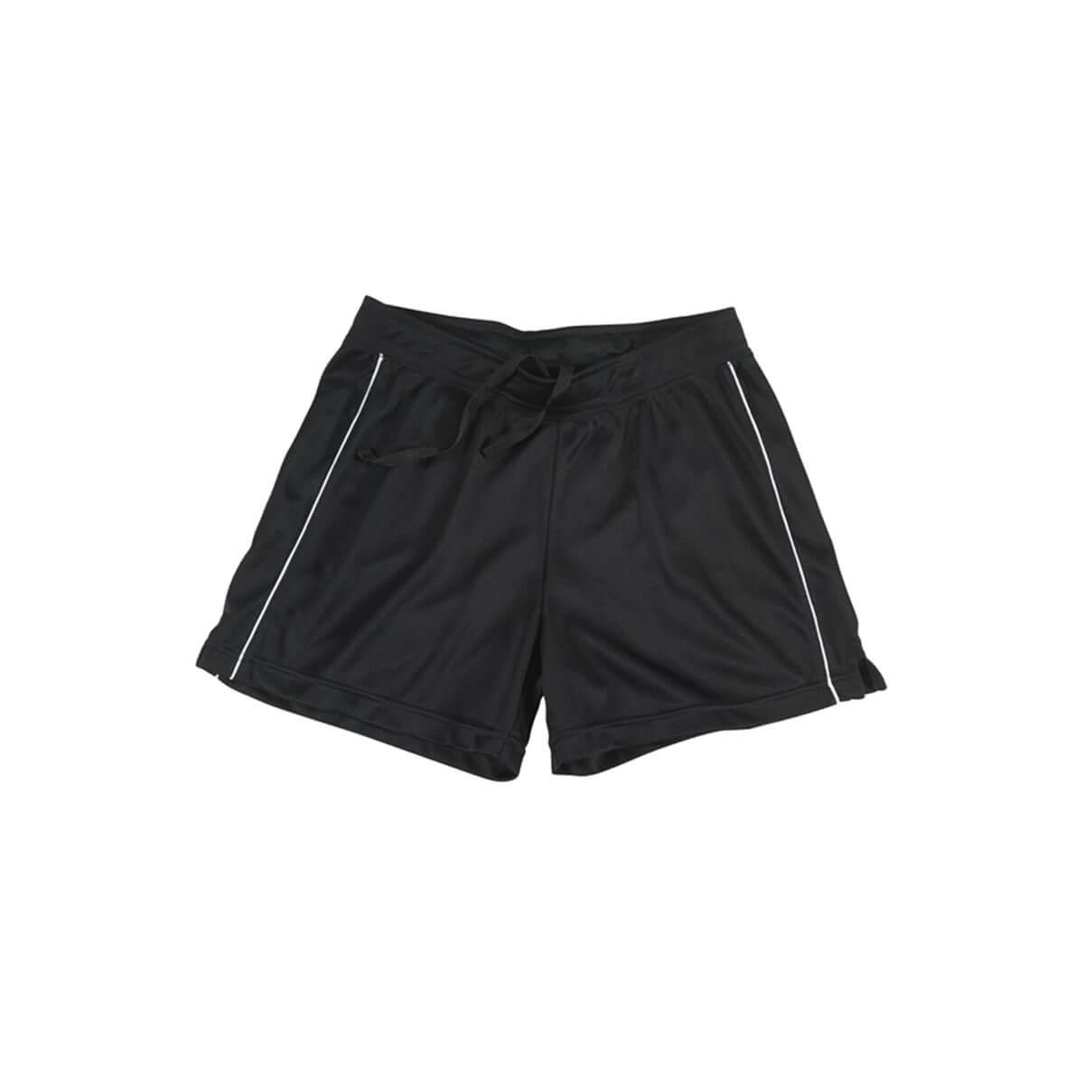 Ladies Biz Cool™ Shorts-Black / White