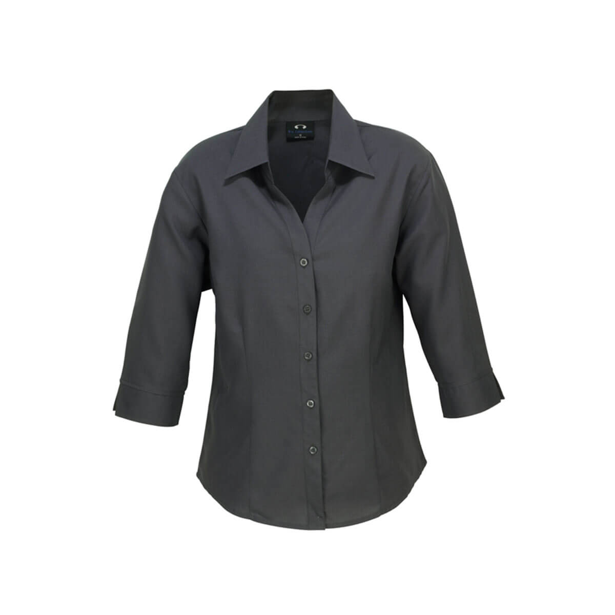 Ladies Plain Oasis 3/4 Sleeve Shirt-Charcoal