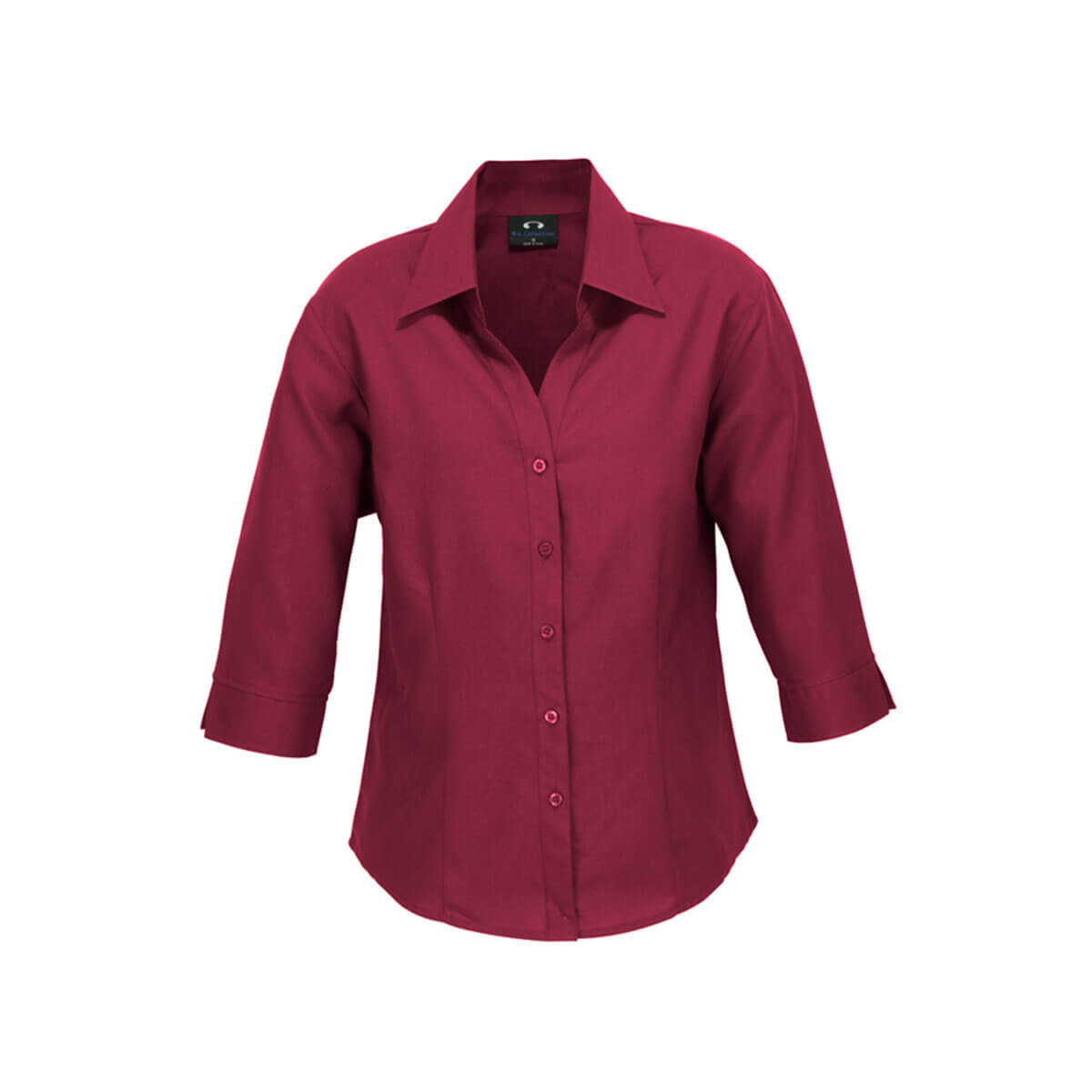 Ladies Plain Oasis 3/4 Sleeve Shirt-Cherry