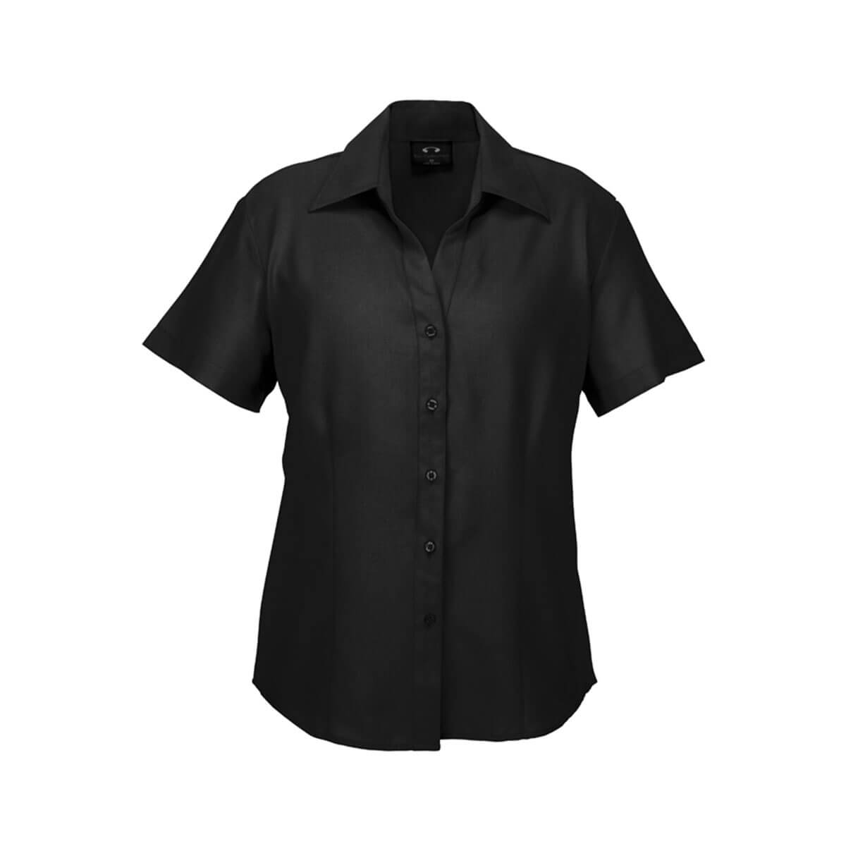 Ladies Plain Oasis Short Sleeve Shirt-Black