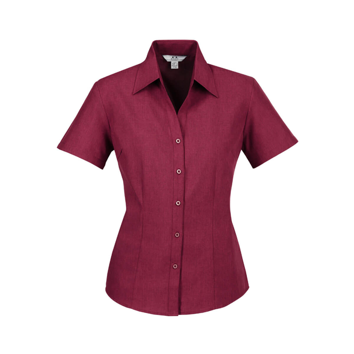 Ladies Plain Oasis Short Sleeve Shirt-Cherry