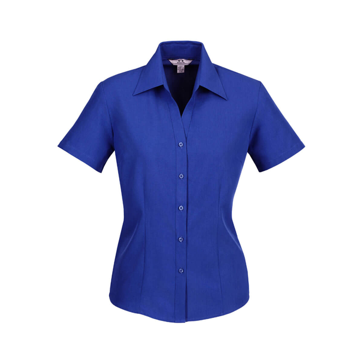 Ladies Plain Oasis Short Sleeve Shirt-Electric Blue