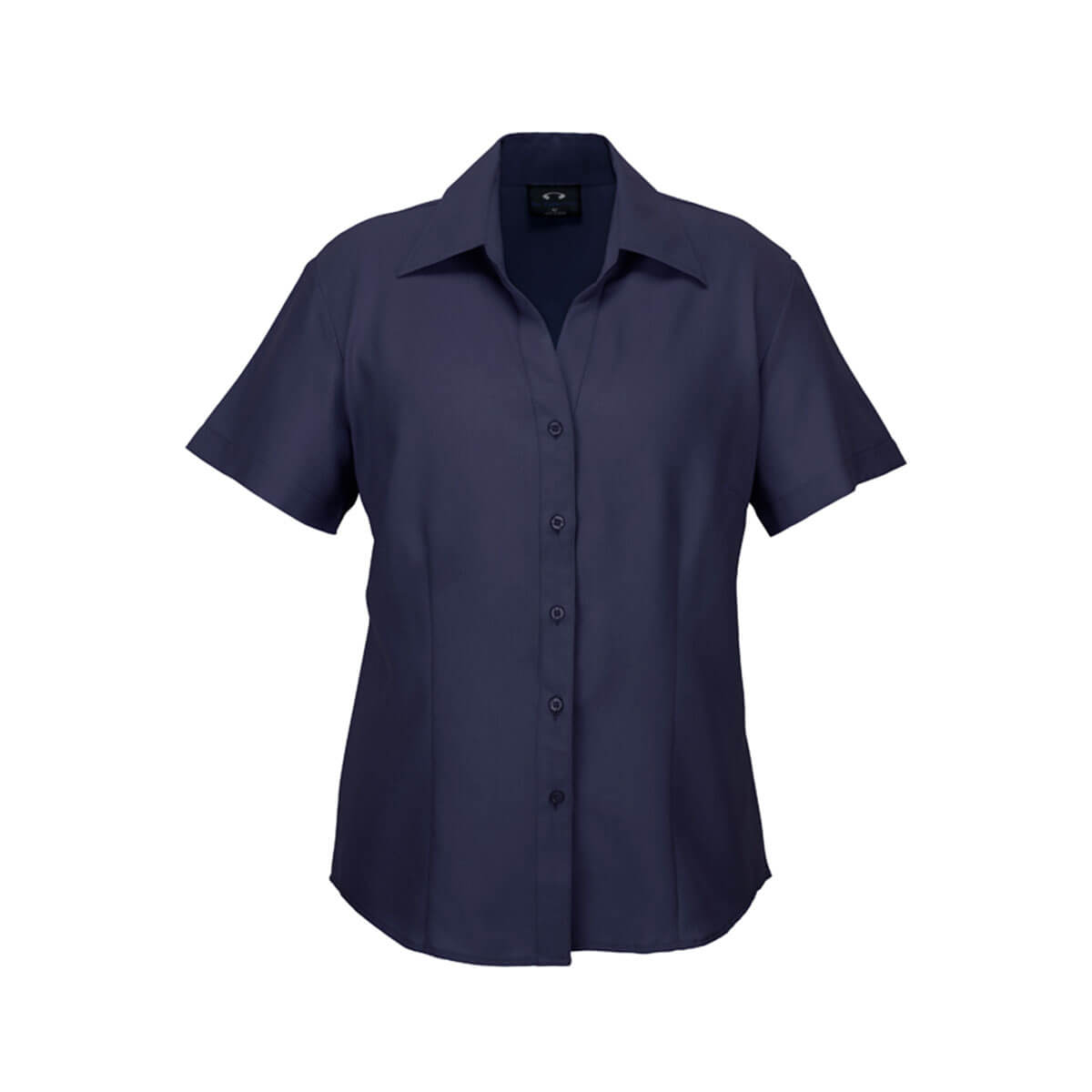 Ladies Plain Oasis Short Sleeve Shirt-Navy