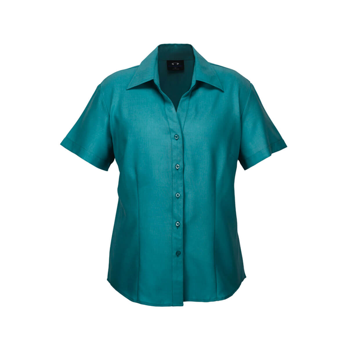 Ladies Plain Oasis Short Sleeve Shirt-Teal