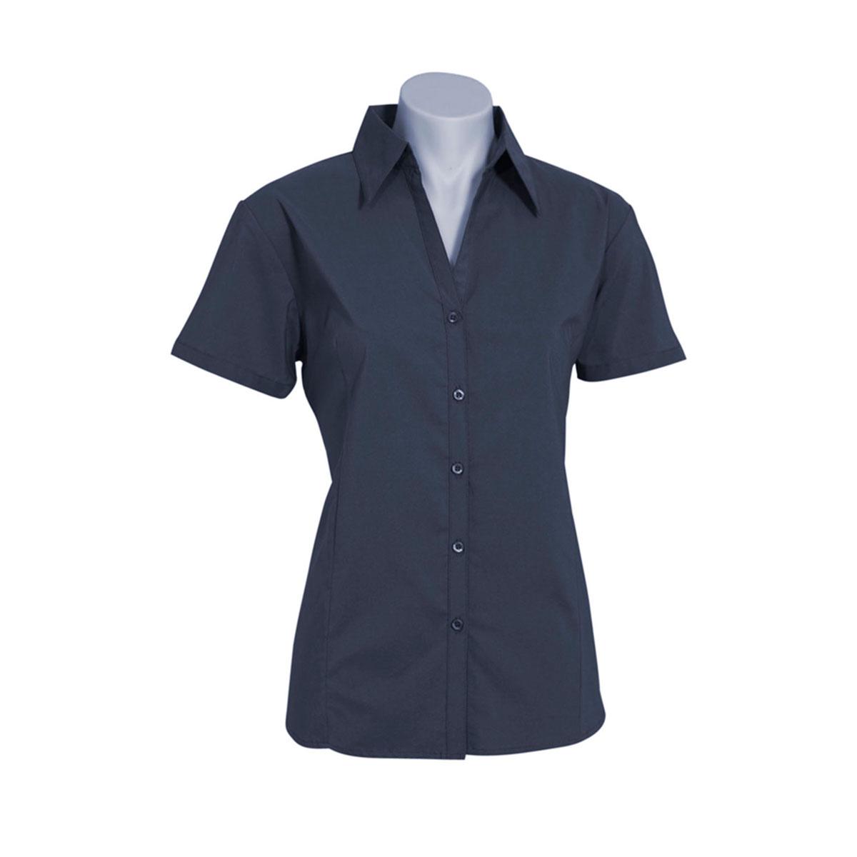 Ladies Metro Short Sleeve Shirt-Black