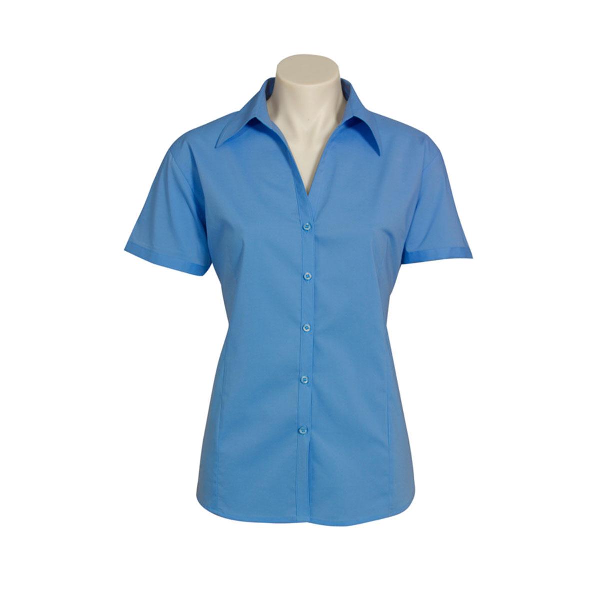 Ladies Metro Short Sleeve Shirt-Cherry