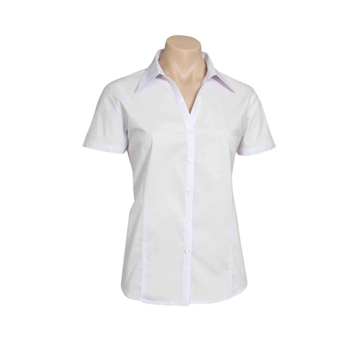 Ladies Metro Short Sleeve Shirt-Navy