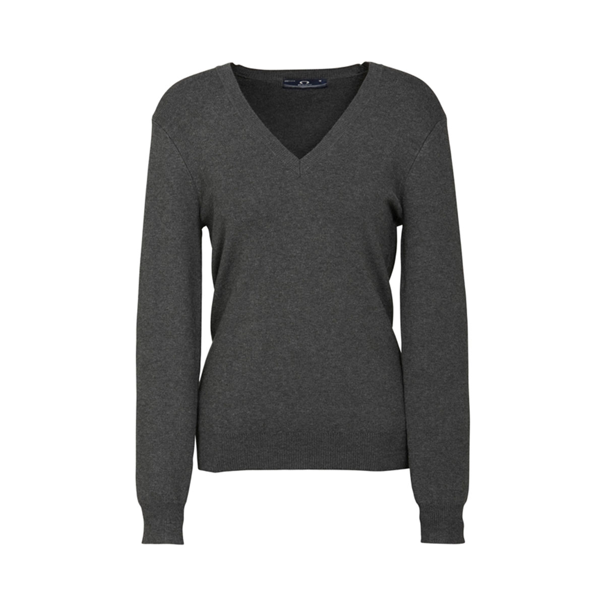 Ladies V-Neck Pullover-Charcoal